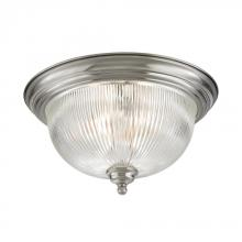 Elk Cornerstone 7683FM/20 - Liberty Park 3 Light Flush Mount In Brushed Nick