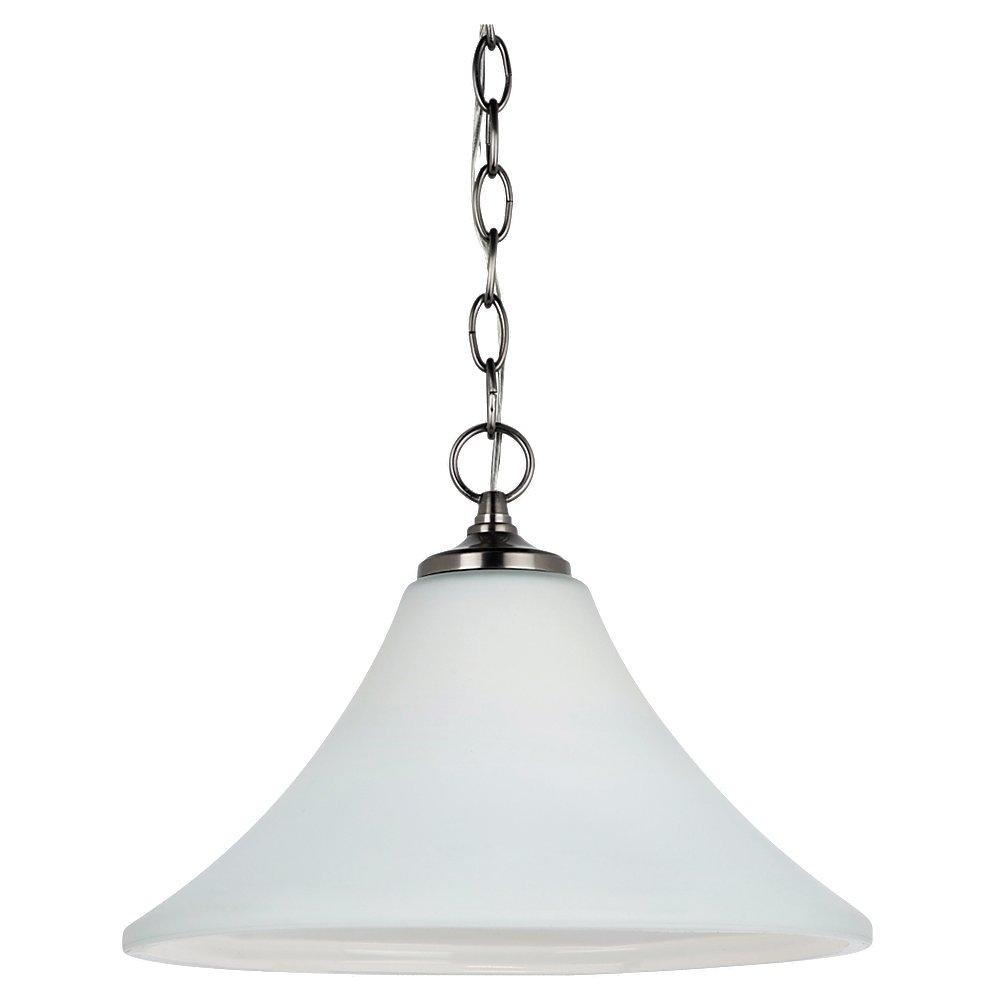 One Light Fluorescent Pendant in Antique Brushed Nickel Finish