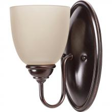 Sea Gull Canada 44316BLE-710 - Fluorescent Lemont One Light Wall/Bath Sconce in Burnt Sienna with Cafe Tint Glass