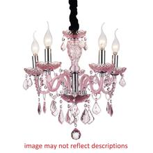 Crystal World 8268P18C-5 (Cognac) - 5 Light Up Chandelier with Chrome finish