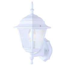 Canarm IOL111 - Outdoor, IOL1 WH, 1 Bulb Uplight, Bevelled Glass, 100W Type A or B