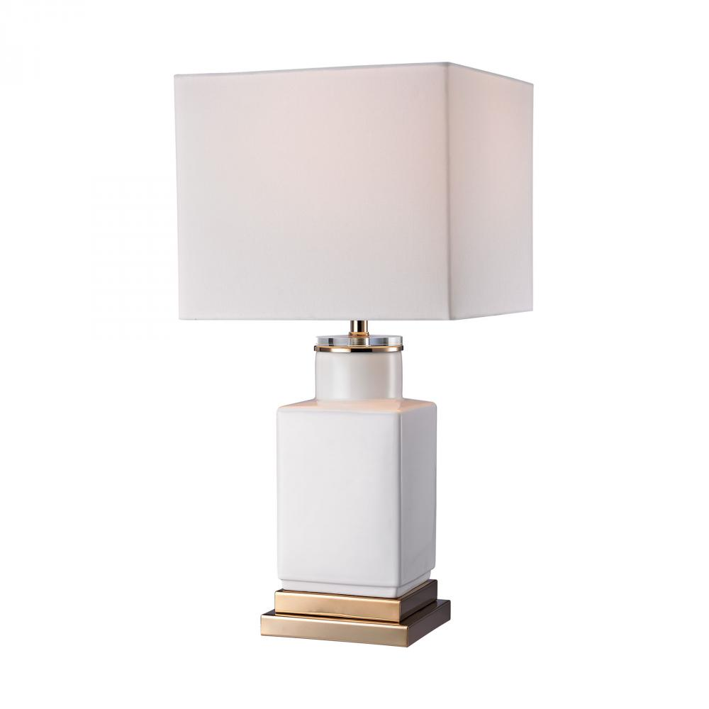 Small White Cube Lamp