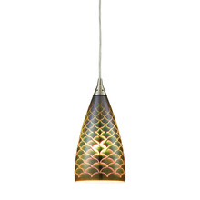ELK Lighting 10507/1 - Illusions 1 Light Pendant In Satin Nickel With 3